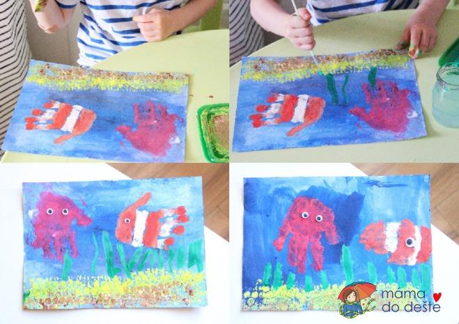 Letní tvoření pro děti: Rybí svět z otisků ruky
