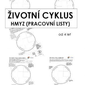 Pracovní listy Životní cyklus Hmyzu + Žába v PDF (3 +2 PDF)