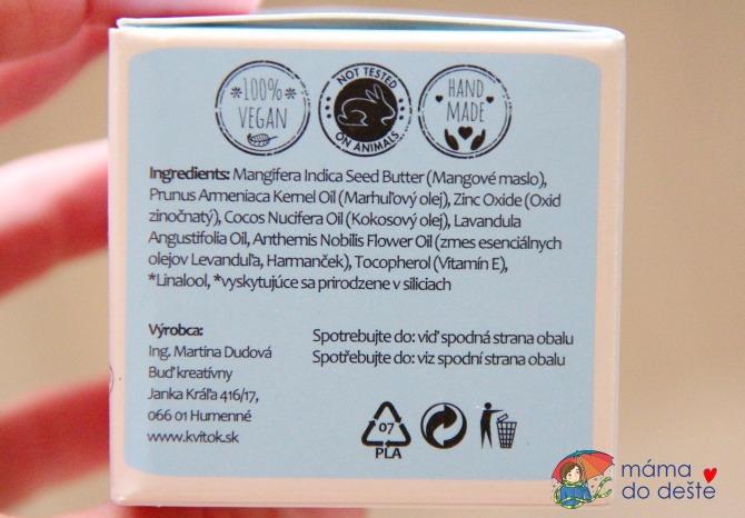 Recenze Kvitok: Zinkový balzám na opruzeniny Jemné pohlazení (50 ml)