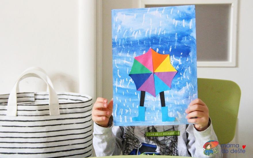 Tvoření pro děti: Procházka v dešti s deštníkem