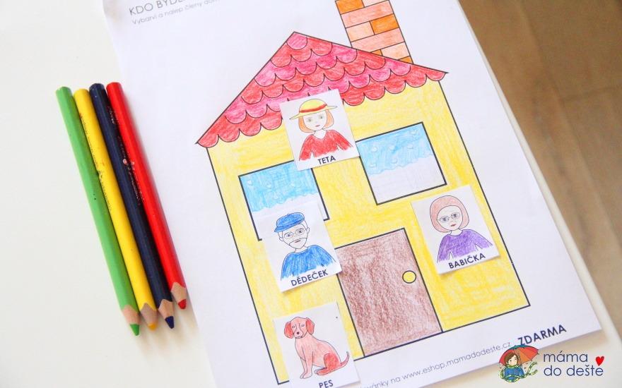 PDF ZDARMA: Omalovánka Kdo bydlí doma