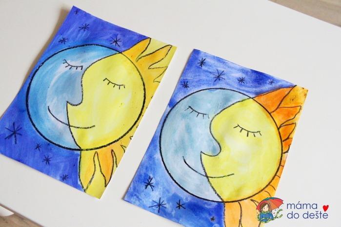 Den a noc: Zajímavé kreslení pro děti