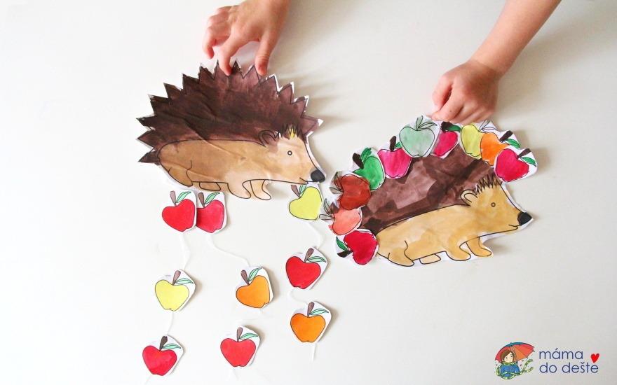 PDF zdarma: Ježčí dekorace pro děti (podzim)