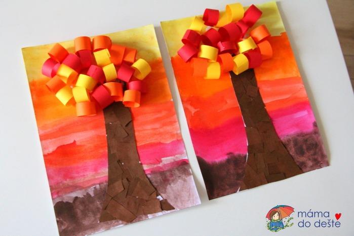 Podzimní strom: Tip na malování i lepení pro děti