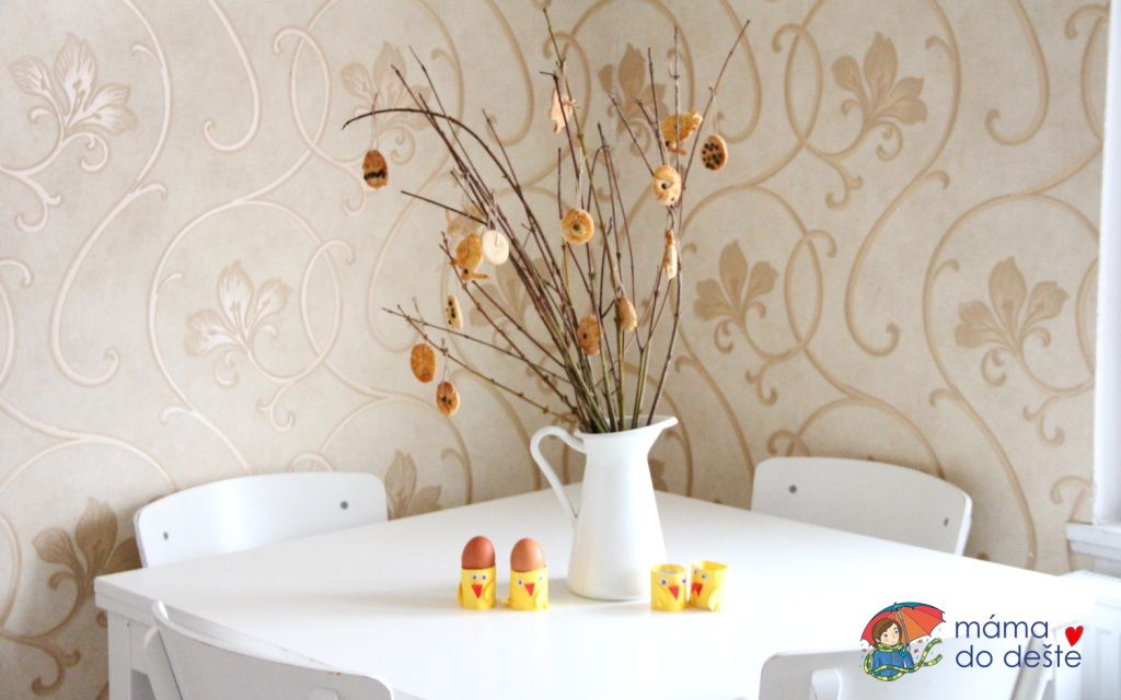 Velikonoční dekorace z vizovického těsta pro malé děti