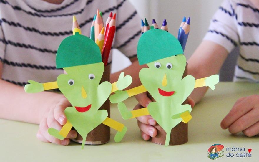 Tvoření pro děti: Dubínek z ruličky od toaletního papíru