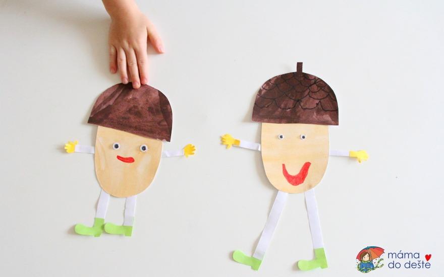 Veselý žalud - snadné podzimní lepení pro děti