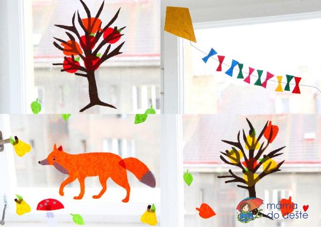 DIY podzimní dekorace na okna