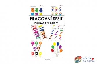 Tvoříme PDF: Pracovní sešit Poznávání barev od 1,5 roku