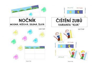 Tvoříme PDF: Denní rozvrh Čištění zubů aNočník