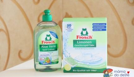 Recenze čistících prostředků Frosch EKO na nádobí Aloe vera atablety do myčky