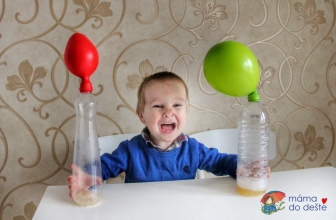 Náš první experiment: Co dokáže jedlá soda aocet?