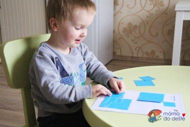 Hra zpapíru: Vrstvení askládání tvarů
