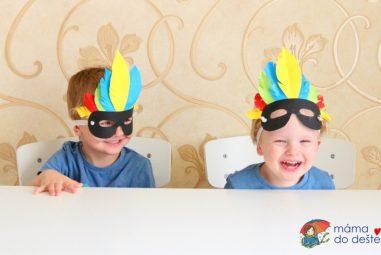 Vyrábíme doma: Indiánské masky zpapíru