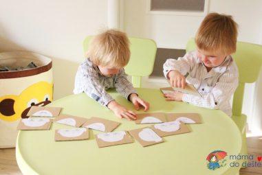 Hra ze zbytků kartonu kprocvičení nálad aemocí