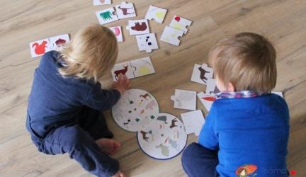 """Vyrábíme doma: Puzzle zkartonu """"Co jí zvířátka"""""""
