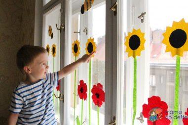 Vyrábíme doma: Dekorace na okna – včelky akytičky