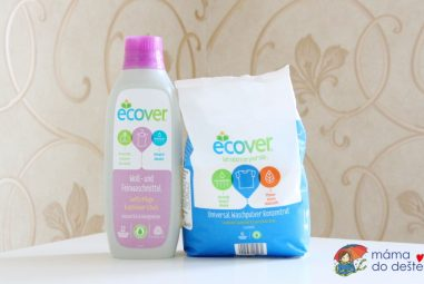Recenze pracího gelu aprášku Ecover