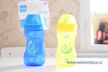 MAM nevylévací láhev na učení Sports Cup