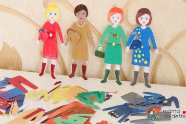 Vyrábíme doma: Oblékací panenky – Kolekce Podzim 2019