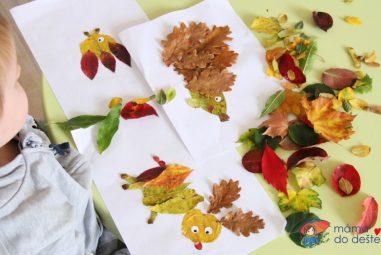 Podzimní tvoření: Lepíme stromy aobrázky zlistí