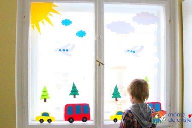 Vyrábíme doma: Dekorace na okna do dětského pokojíčku (auta aautobusy)