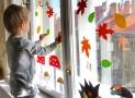 Vyrábíme doma: Podzimní dekorace na okna