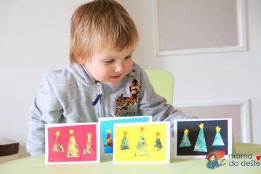 Jednoduché vánoční přání, které vyrobí imalé děti