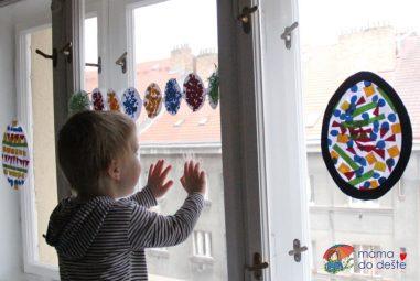 Vyrábíme doma: Velikonoční dekorace na okna