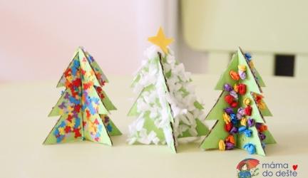 Ozdob si svůj stromeček: Barevné nebo zasněžené vánoční dekorace zpapíru